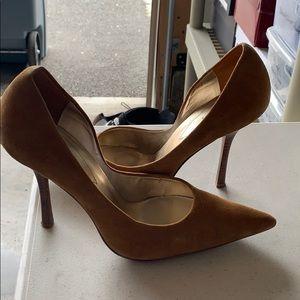 Guess Tan Suede Dress Heels